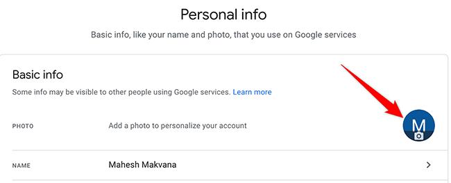 Resimdeki profil Google Hesabı sitesinde kaldırıldı.