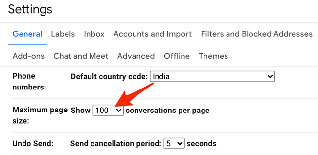 """Click """"Maximize Page Size"""" in """"Settings"""" on Gmail."""