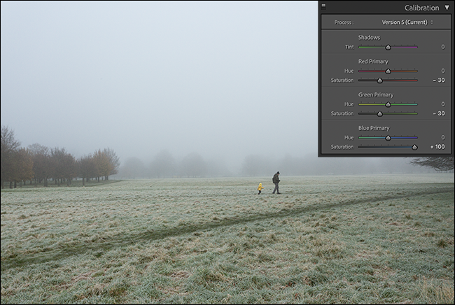 styling an image with calibration panel