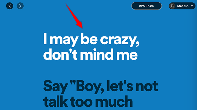 See song lyrics in Spotify.