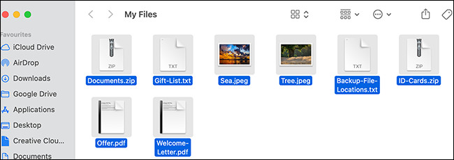 All files selected in a Finder window.