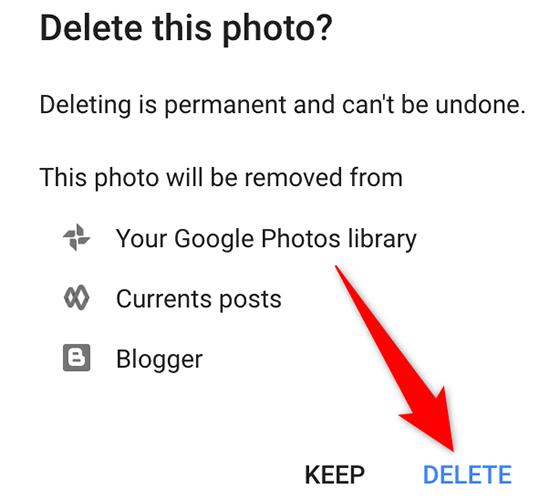 """Google Hesabı sitesindeki """"Bu Fotoğrafı Sil"""" isteminde """"Sil""""i seçin."""