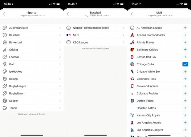 Adicionar esportes ao calendário do Outlook no celular
