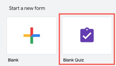 Select Blank Quiz