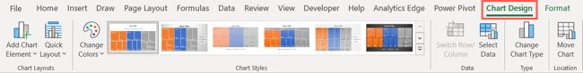Excel'de Grafik Tasarımı sekmesi