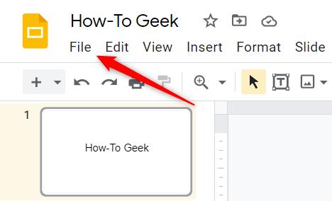 In the menu bar, click File.