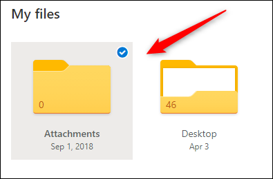 Click a file or folder to select it.
