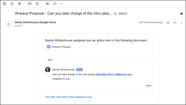 Comment assigned email notification