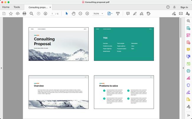 PDF della presentazione di Presentazioni Google