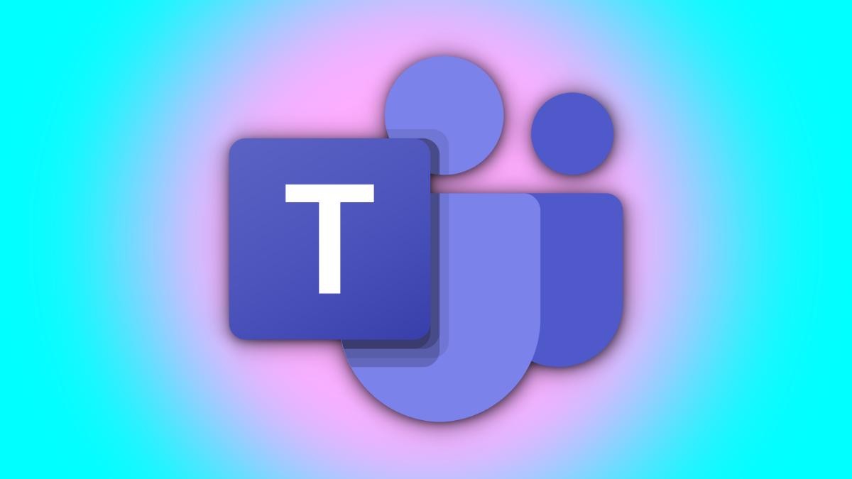 A logo of Microsoft Teams on a dual-tone background.
