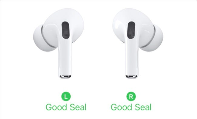 AirPods Pro Fit Test Results