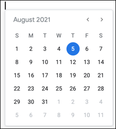 Pick the date on the calendar