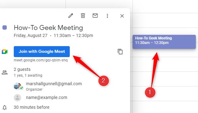 Partecipa alla riunione di Google Meet.