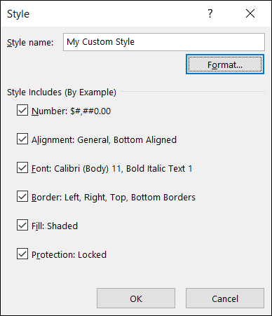 Uncheck any cell style items