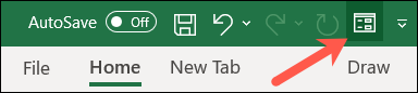 Form button in Quick Access Toolbar