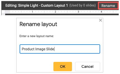 Click to Rename the custom image slide