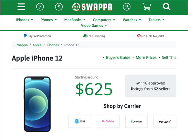 Sell an iPhone on Swappa
