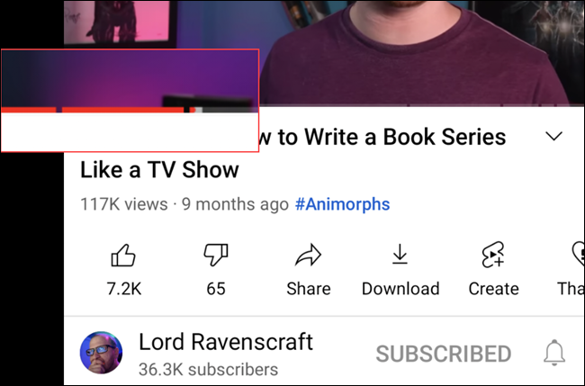YouTube video with chapters.