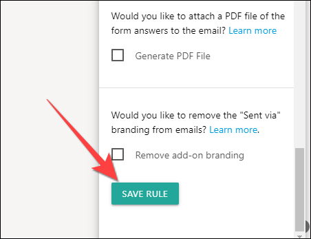 """Scroll down and select """"Save Rule"""" to save changes."""