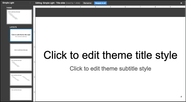 Theme Builder in Google Slides