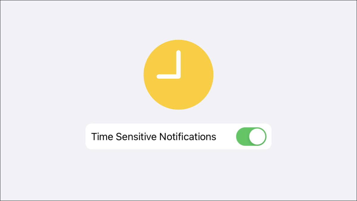 Time sensitive notifications.