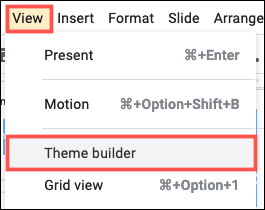 Click View, Theme Builder to start editing themes