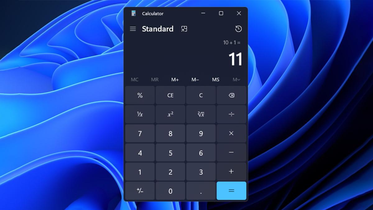 Windows 11 Calculator Standard mode