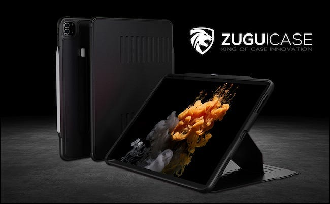 Zugu black Alpha case on grey floor