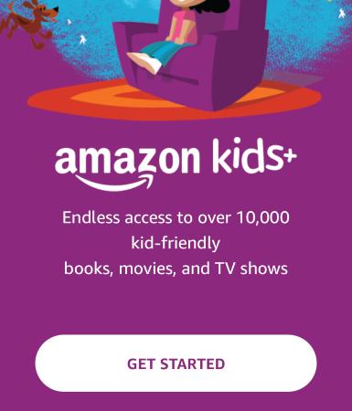 amazon kids getting started screen
