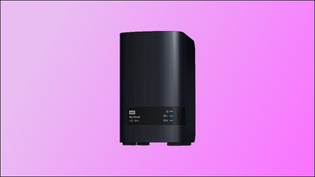 WD My Cloud EX2 on pink background