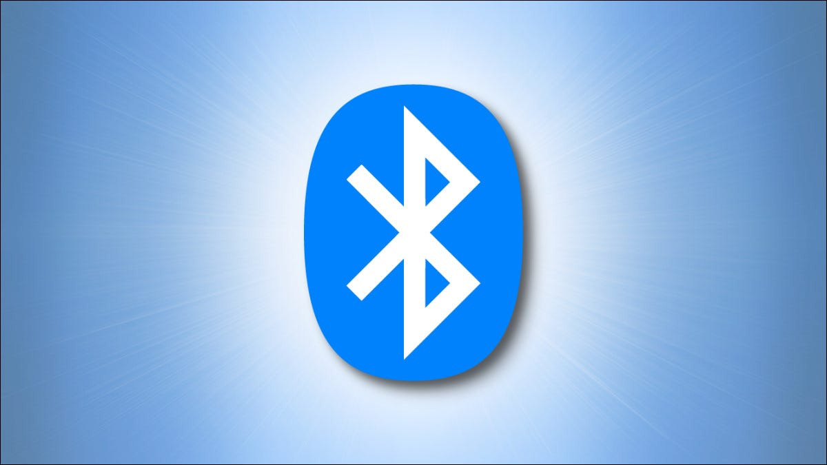 The Bluetooth logo on a blue background