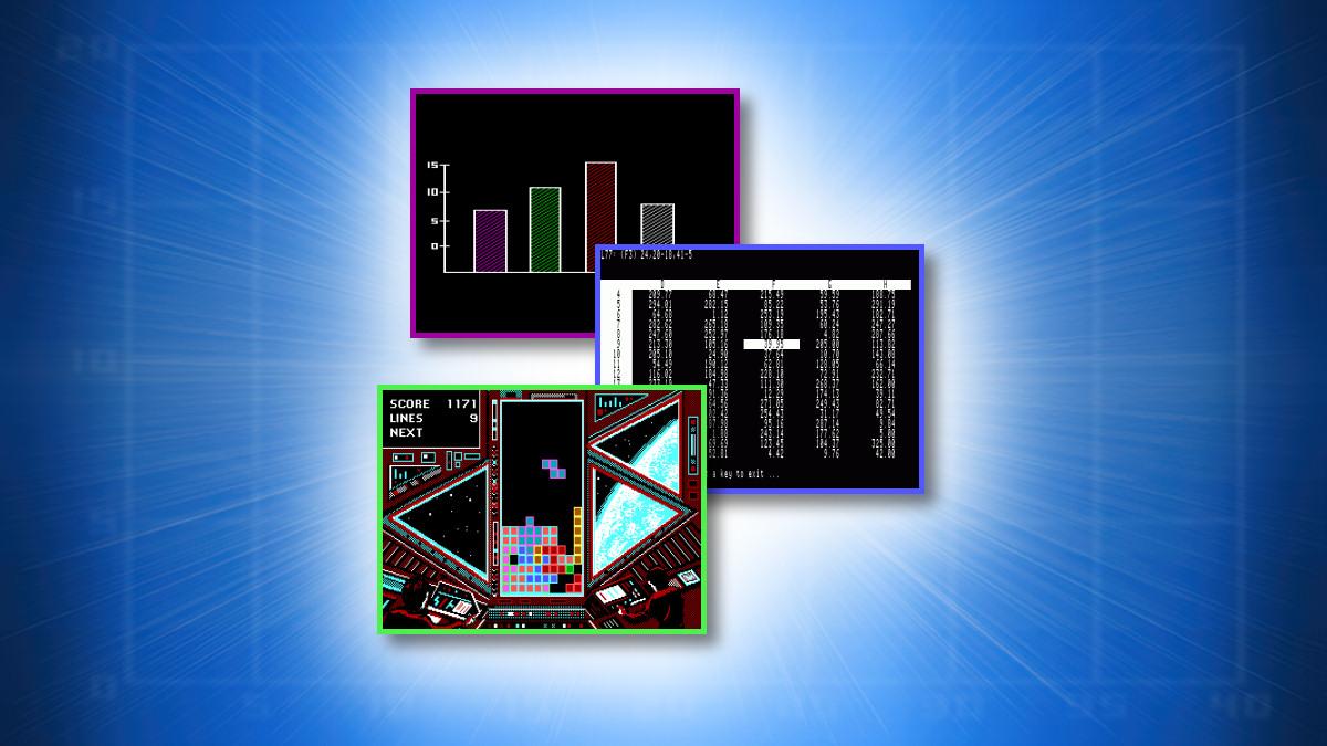 Example MS-DOS Boss Key Screens