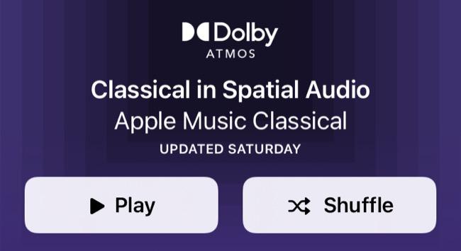Apple Music Spatial Audio Classical Playlist