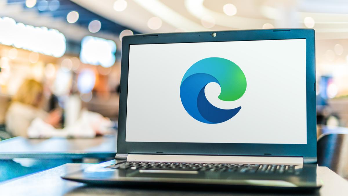 Edgo logo on a laptop screen