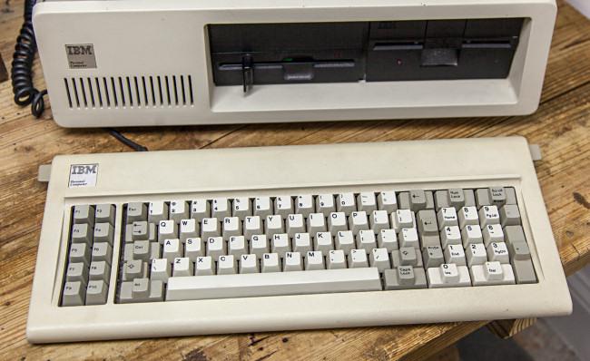 The IBM PC 5150 keyboard.