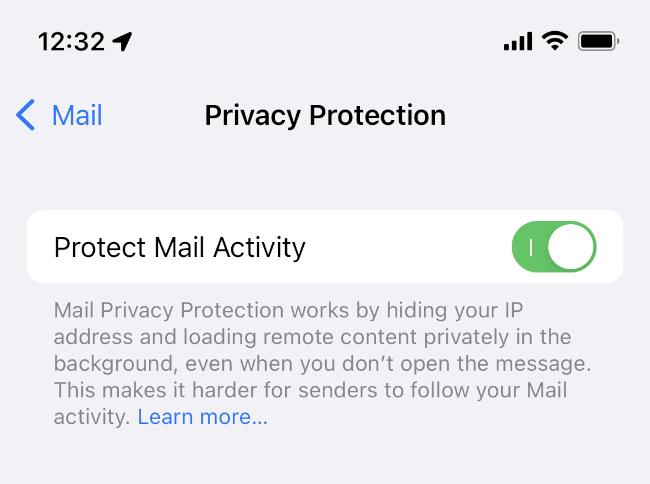在 iPad 或 iPad 上切换保护邮件活动