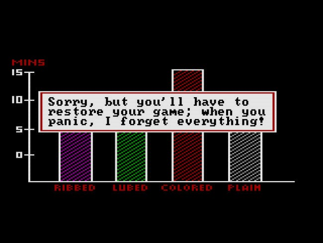 A message in the Leisure Suit Larry boss key screens.