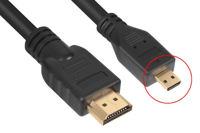 "A ""Type-D"" micro HDMI connector"