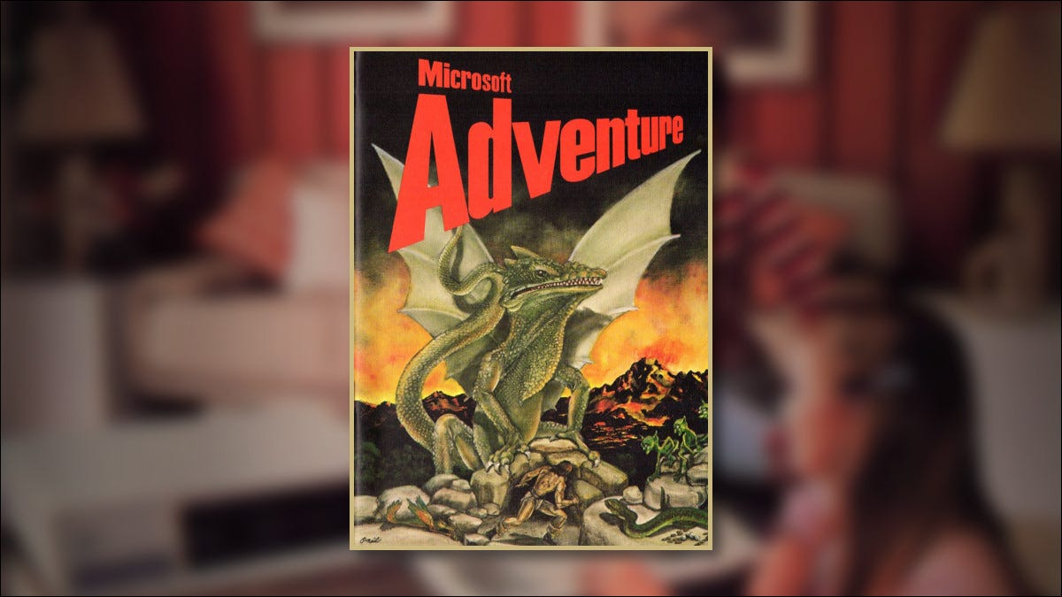 The cover of Microsoft Adventure for the IBM PC from 1981
