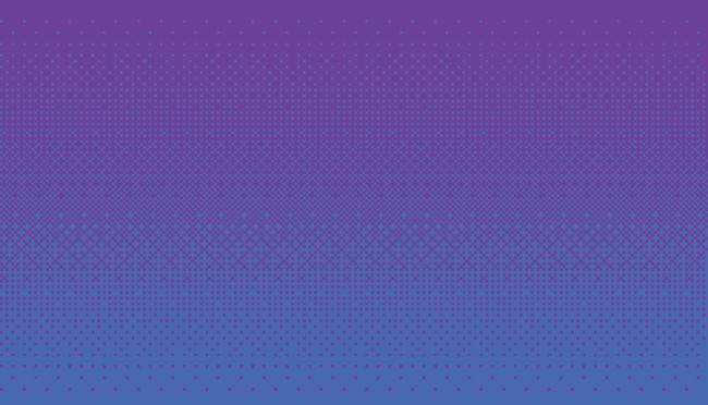 Esempio di dithering dei colori blu e viola