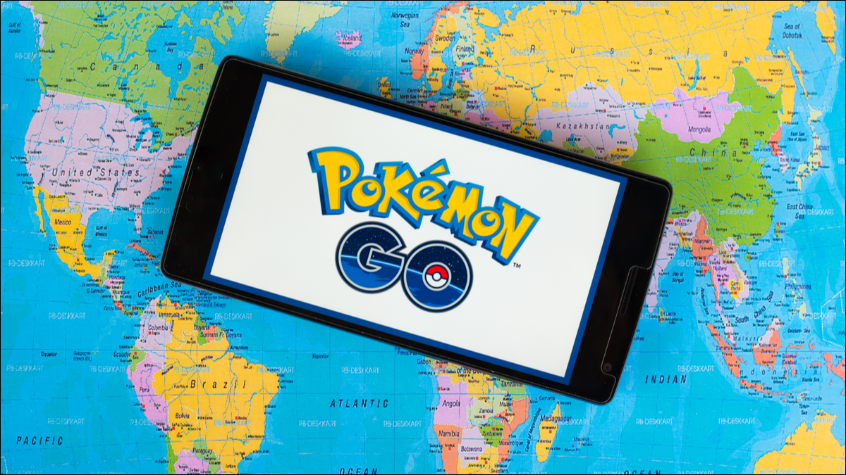 Pokemon Go on a map