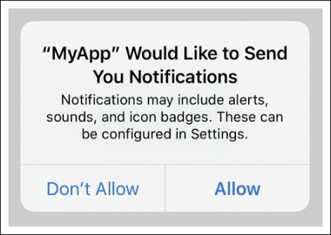 Asking Permission to Use Notifications
