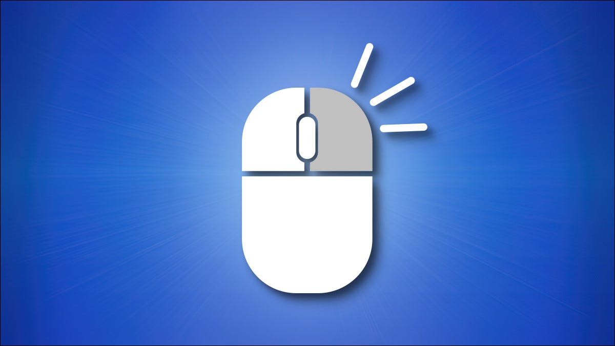 An illustration of a right mouse button being clicked.