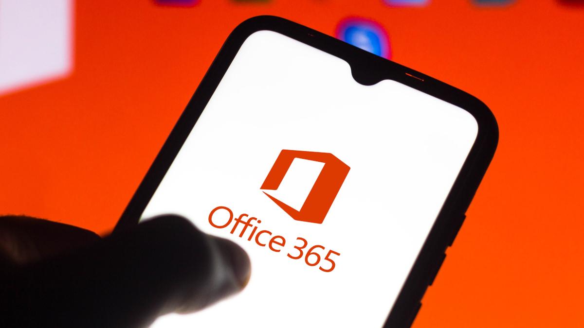 Office 365 logosunu gösteren akıllı telefon ekranı