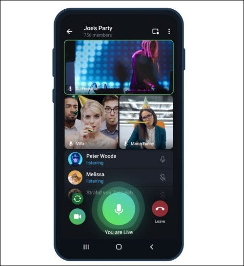 Telegram's 1000 person video calls