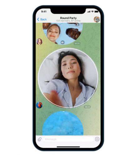 Telegram video message update