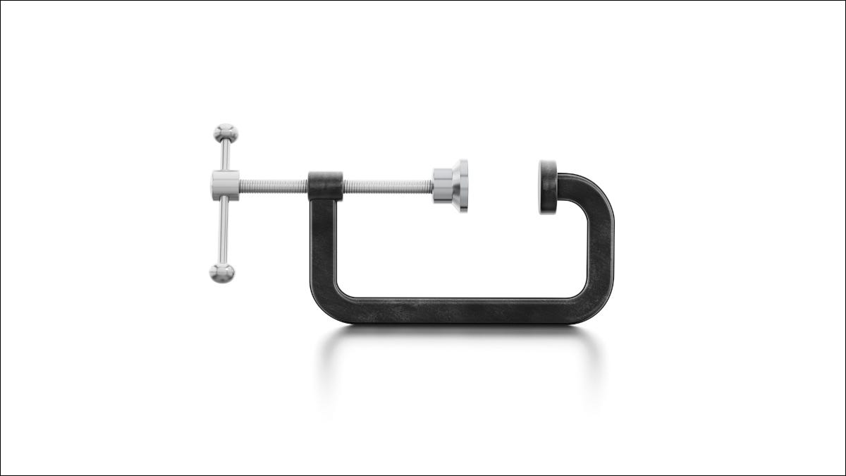 Clamp tool isolated on a white background