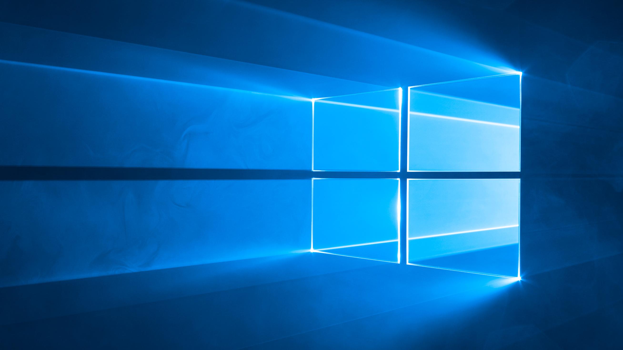 Windows 10's original desktop background.