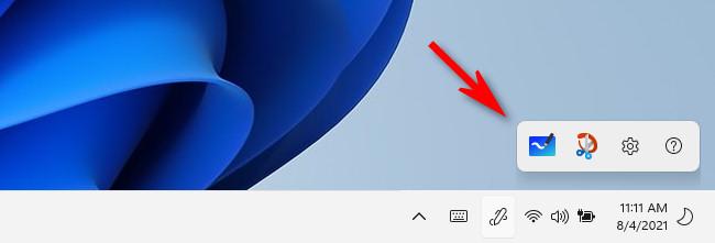 The Windows 11 Pen Menu popped-up