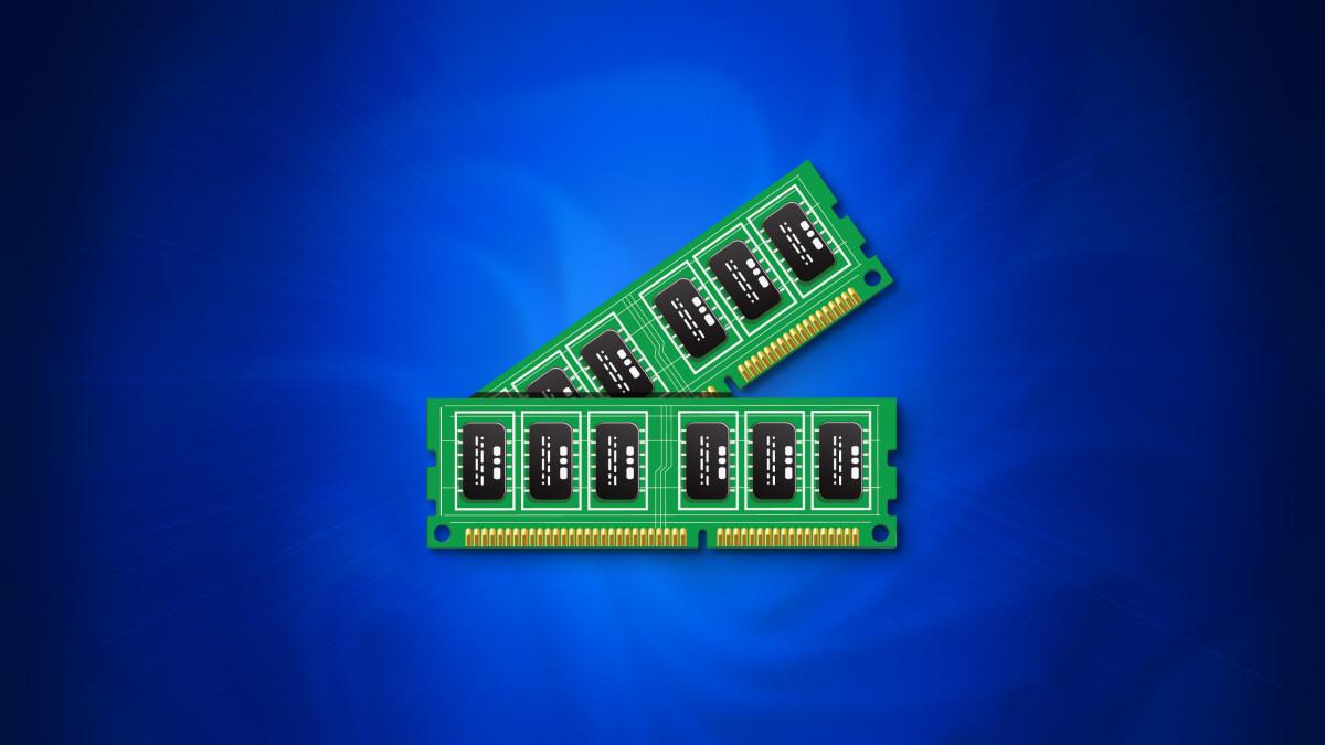 RAM fixa-se sobre um fundo azul ao estilo do Windows 11